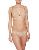 Ultra Feminin Lace Thong, Nude