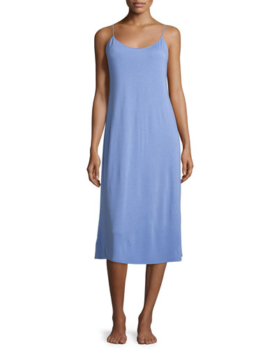 Shangri La Long Jersey Nightgown, Iris
