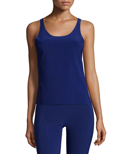 Racer Active Combo Top, Blueberry/Black