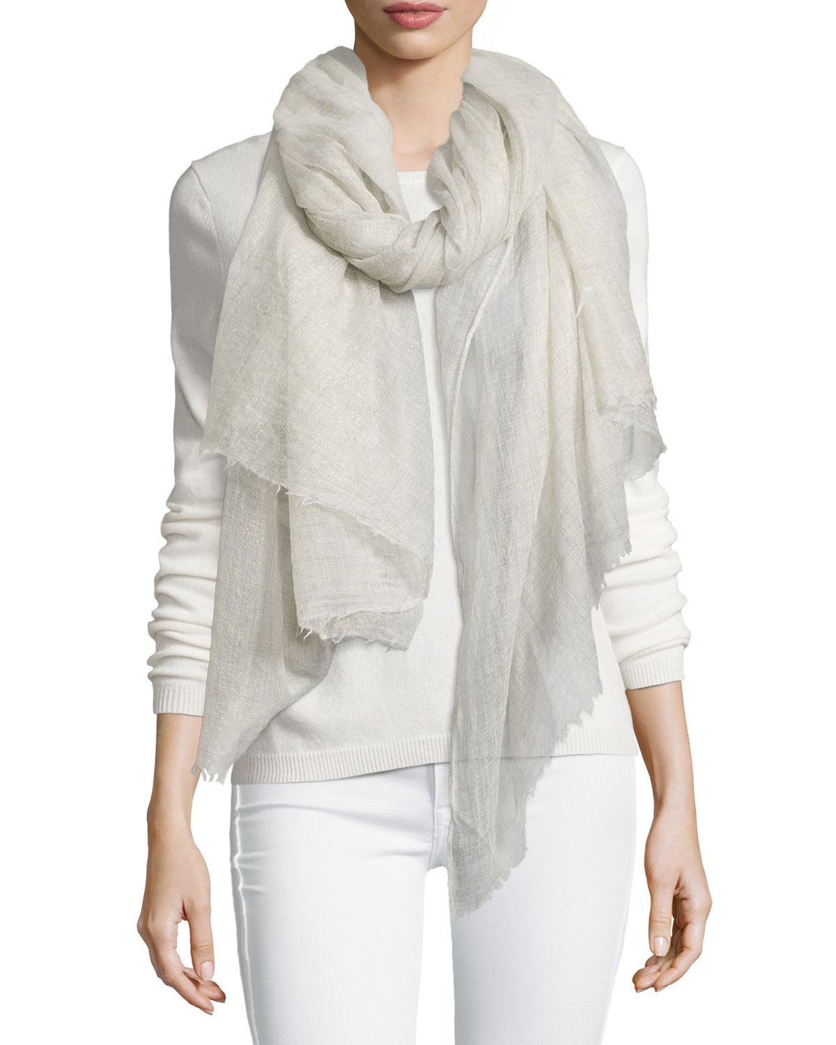 Shimmery Cashmere Scarf, Shark