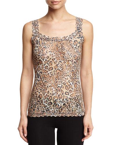Printed Unlined Camisole, Leopard Nouveau, Plus Size