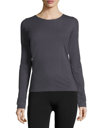 Pure Long-Sleeve Pullover Tee