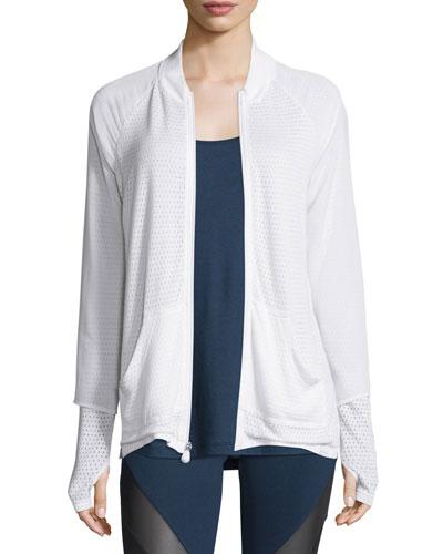 Veneer Dual Zip-Up Jacket, White