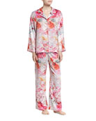 Autumn Notch Pajama Set, Multicolor