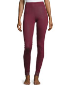 Chiara Lounge Leggings, Red Plum