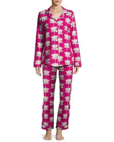 Lotus Land Classic Pajama Set, Print