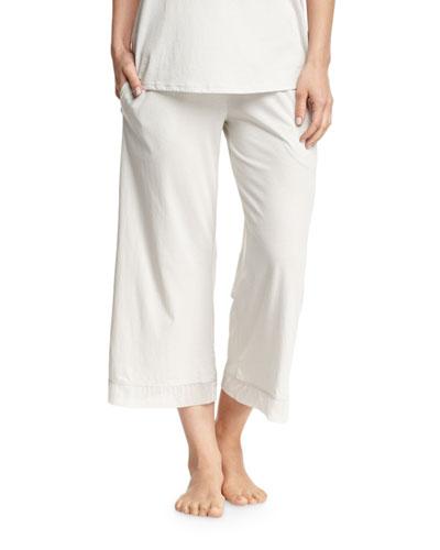 Cotton Tulle Lounge Crop Pant, Gray Mist