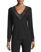 Cosabella Minoa Sleep Top, Black