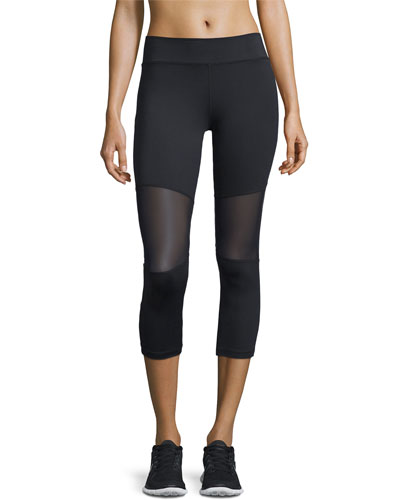 Aileen 3/4-Length Compression Tights, Black