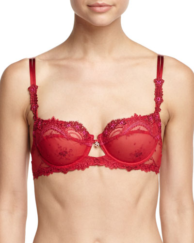 Love Fantasme Lace Demi Bra, Red