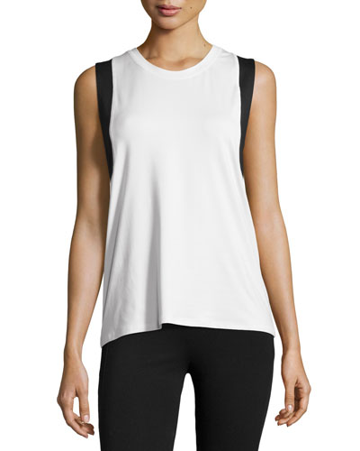 All Day Cutaway Tank Top, White