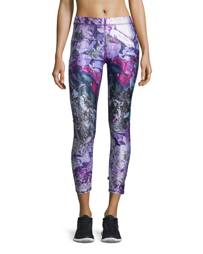 Paint-Splatter Performance Leggings