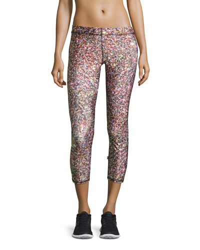 Confetti Glitter Capri Performance Leggings