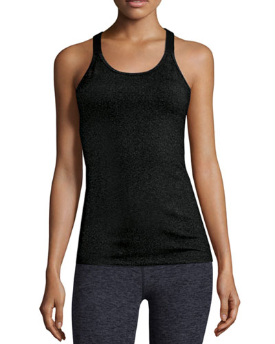 Silhouette Shimmery Sport Camisole, Black