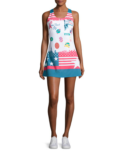 MB Court Central Dress, Multicolor