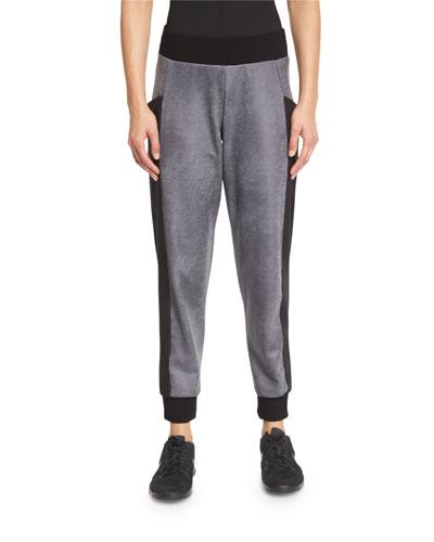 Stardust Paneled Sweatpants, Gray/Black