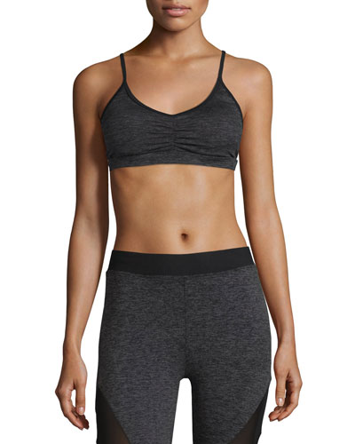 Element Sports Bra, Dark Gray Heather/Black