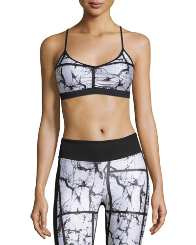 Crush Versatility Sports Bra, Marble/Black