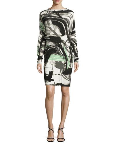 All-in-One Graffiti-Print Dress