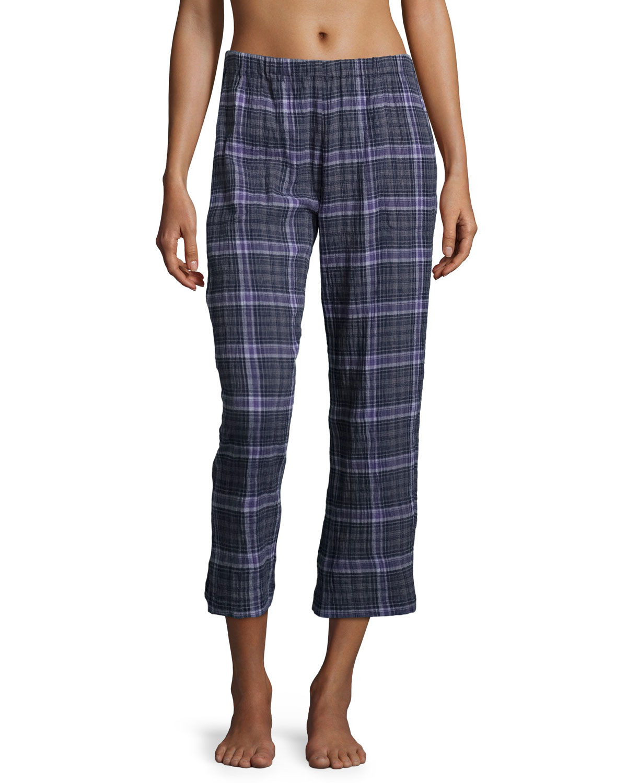 Donna Lounge Pants, Plaid