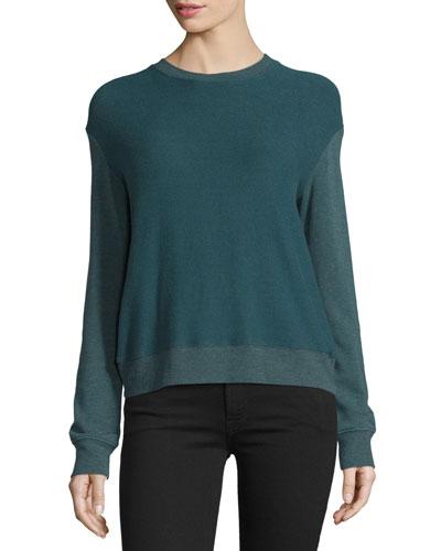 Laguna Tulip-Back Pullover Sweatshirt, Emerald