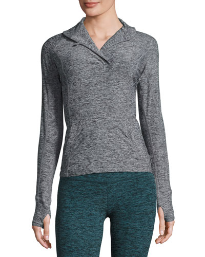 Featherweight For It Pullover, Black/White