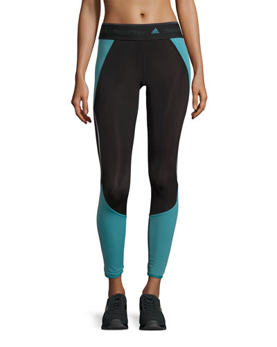 Run Climaheat™ Compression Tights, Black/Harbour Blue