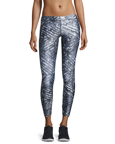 Sequin-Print Performance Leggings
