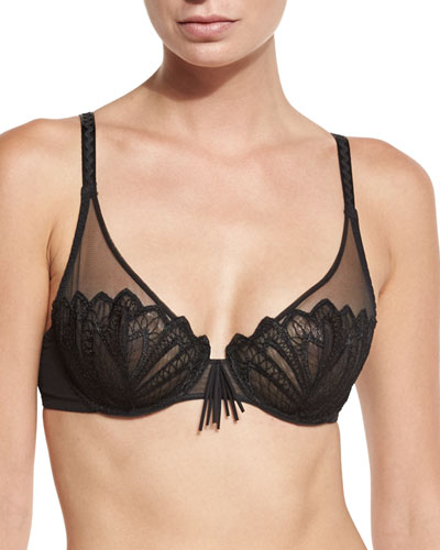 Corolle Full-Cup Lace Bra, Black