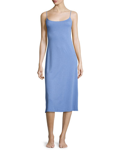 Shangri-La Long Jersey Nightgown, Smoky Iris