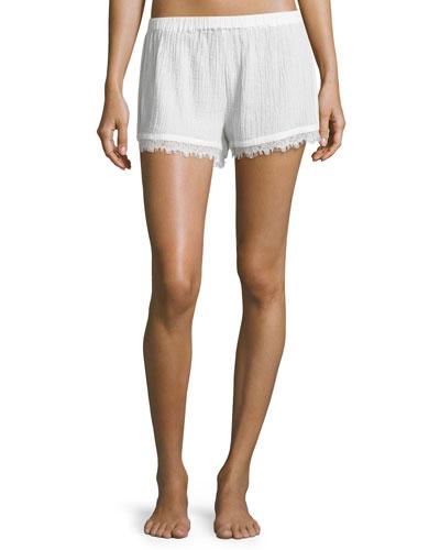 Cotton Gauze Shorts, Coconut