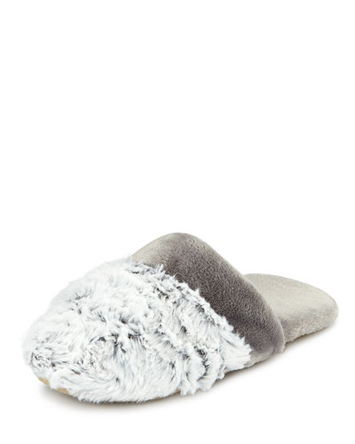 Fuzzy-Trim Mule Slipper