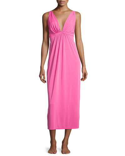Aphrodite Long Gown, Tropical Pink