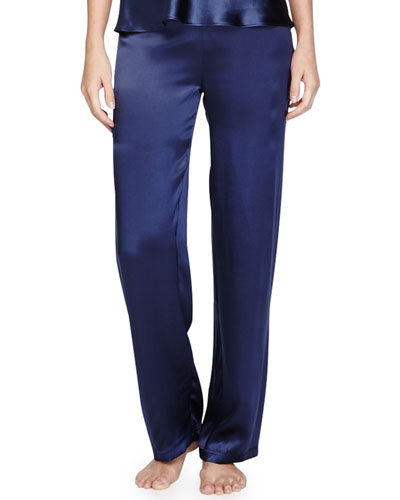 Catie Silk Drawstring Lounge Pants