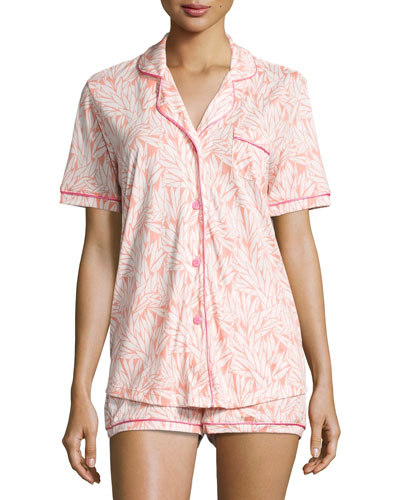 Bella Printed Short-Sleeve Shorty Pajama Set