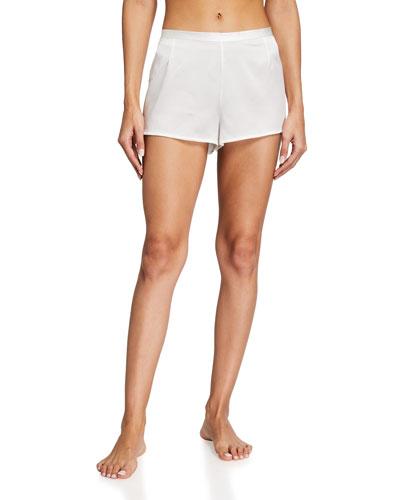 Silk Side-Button Lounge Shorts