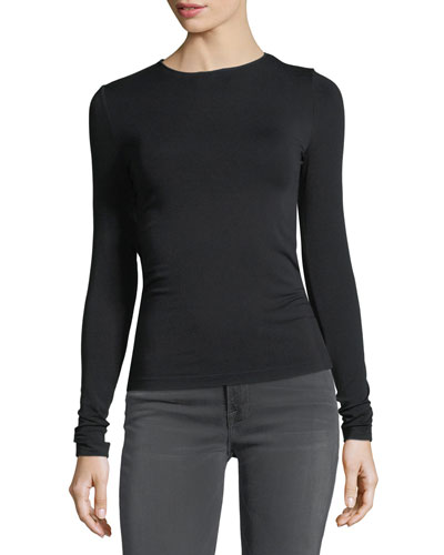 Crewneck Long-Sleeve Jersey Top
