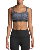 Double-Strap Sports Bra, Black