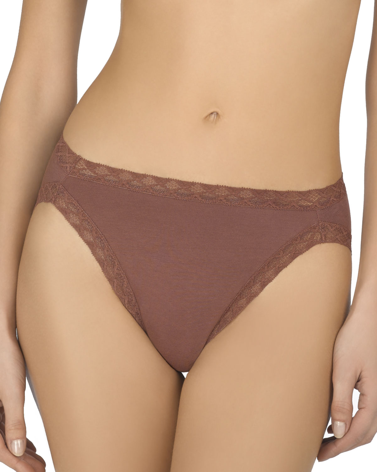 BLISS FRENCH-CUT LACE-TRIM COTTON BRIEF 152058