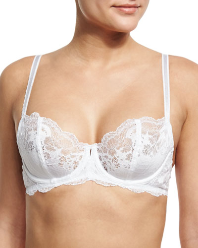 Lace Affair Underwire Balconette Bra, White