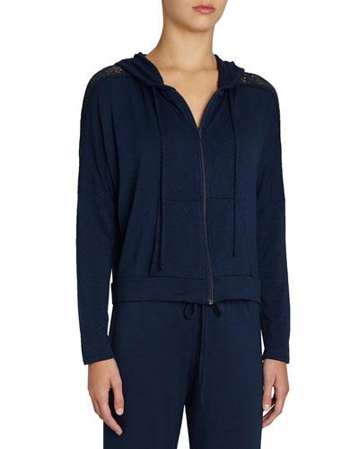 Cara Hoodie Sweatshirt with Lace