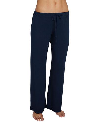 Cara Drawstring Wide-Leg Lounge Pants