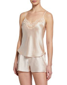 Christine Designs Bijoux Silk Satin Cami & Short