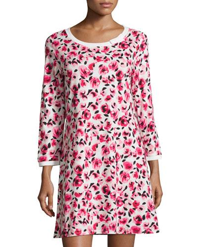 floral-print sleepshirt