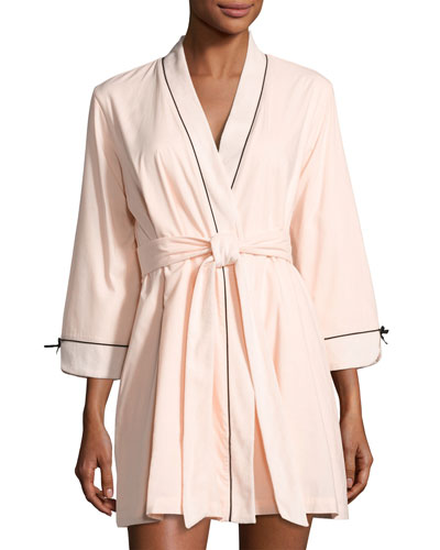 make me blush short robe, pink