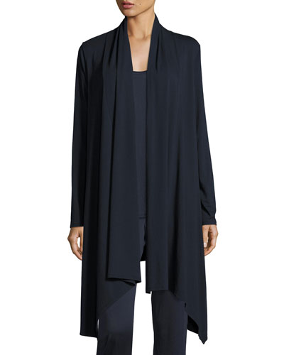 Heron Pima Cotton-Blend Lounge Cardigan, Navy