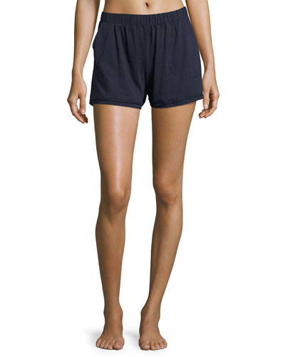 Exclusive Cotton Lounge Shorts, Navy