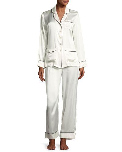 Coco Silk Pajama Set, Ivory
