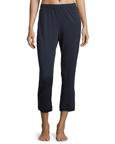 Exclusive Lounge Crop Pants, Navy