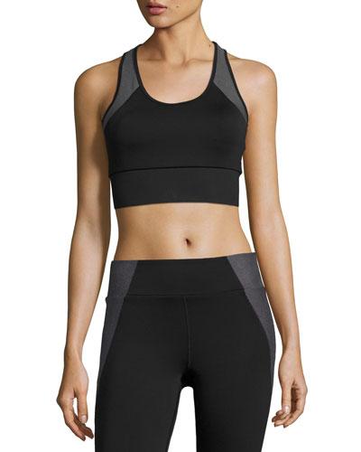 Tread Performance Sports Bra, Black Pattern